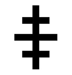 Cross papal roman church icon black color flat vector