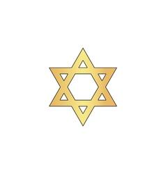 David Star computer symbol vector
