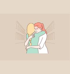 Deception jealousy envy friendship concept vector