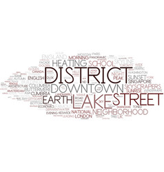 District word cloud concept vector