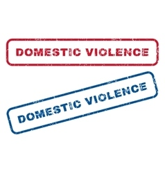 Domestic Violence Rubber Stamps vector image