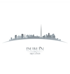 Dublin Ireland city skyline silhouette vector image