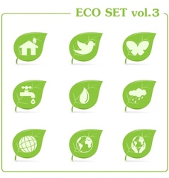 Ecology icon set Vol 3 vector