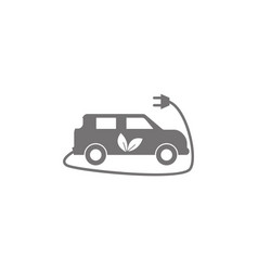 electric car icon electrical cable plug charging vector image