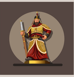 figure admiral yi sun korean heroes character vector image
