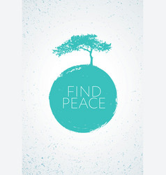 find peace creative minimalistic zen poster vector image