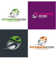 Fitness icon and logo vector