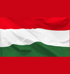 flag hungary background vector image
