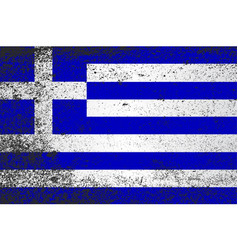 Flag of greece grunge vector