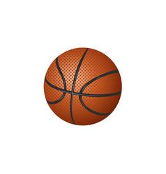 flat cartoon basketball ball isolated vector image