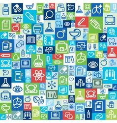 Flat design background medical icons vector image