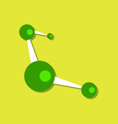 Flat icon design collection molecules scheme in vector