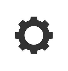 gear black icon vector image
