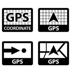 gps navigation coordinates symbols vector image