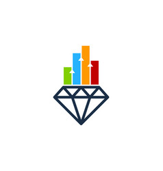 graph diamond logo icon design vector image