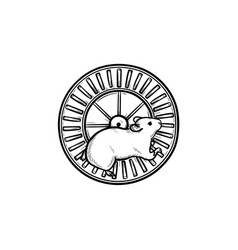 Hamster wheel hand drawn outline doodle icon vector