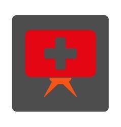 Healthcare Presentation Flat Button vector