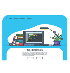 home page for site vector image