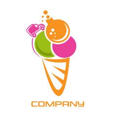 ice cream lab logo vector image
