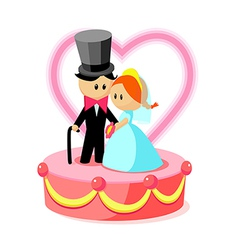 Icon wedding cake vector
