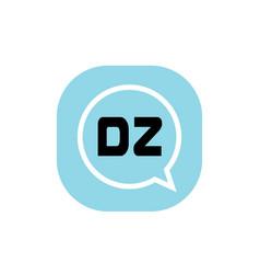 initial letter logo dz template design vector image
