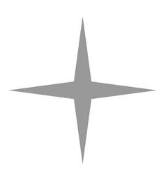 isolated gray star icon ranking mark vector image