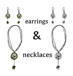 Jewelry accessories bijouterie necklace vector