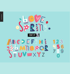 Kids flat alphabet set vector