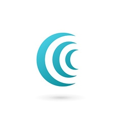 Letter C wireless logo icon design template vector image