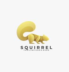 Logo squirrel color luxury style vector