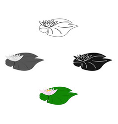lotus icon in cartoonblack style isolated on vector image