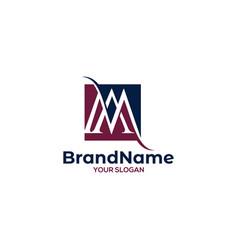 Ma square logo design vector