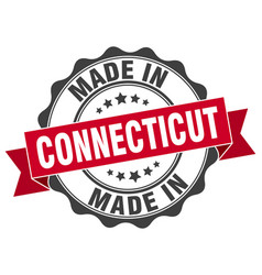Made in connecticut round seal vector