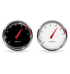 Manometers round gauges with chrome frame vector