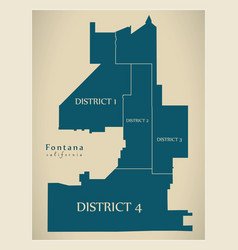 Modern city map - fontana california city the vector