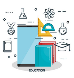 Online education set icons vector