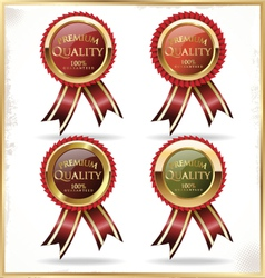 Premium quality golden label vector image