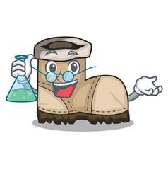 Professor working boot in shape cartoon beautiful vector