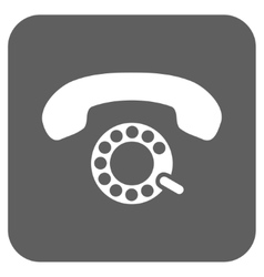 Pulse Dialing Flat Squared Icon vector