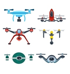 Quadrocopter Drone with Camera Cartoon Icon vector