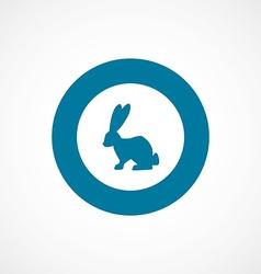 rabbit bold blue border circle icon vector image