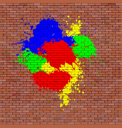 red brick brick wall vector image