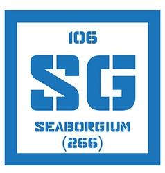 Seaborgium chemical element vector