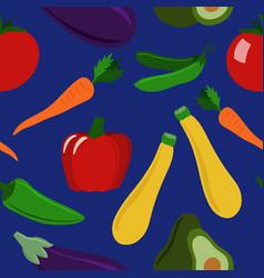 seamless pattern of healthy veggies vector image