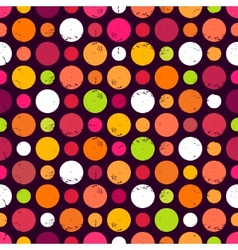 Seamless pattern with dots vector image vector image