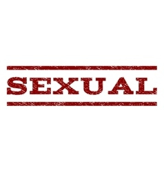 Sexual Watermark Stamp vector