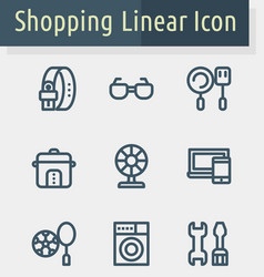 shoping line icon2 vector image
