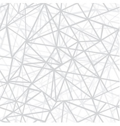 silver grey wire geometric mosaic triangles vector image