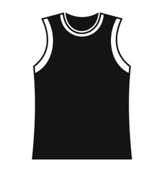Singlet icon simple style vector