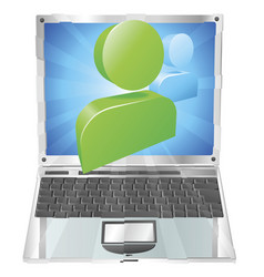 social media icon laptop concept vector image